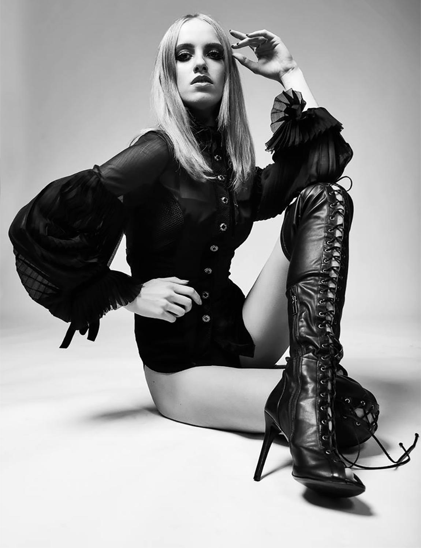 FUNERAL 'Duchess' Top on Akvile Suchodimcovaite, shot by Bartek Furdal