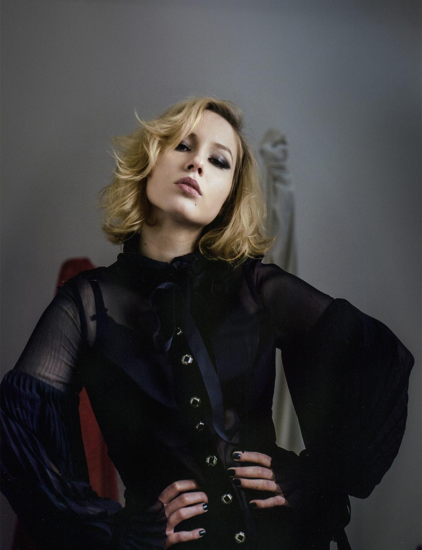 FUNERAL 'Duchess' Top on Klara Chomicz, shot by CJ Monk