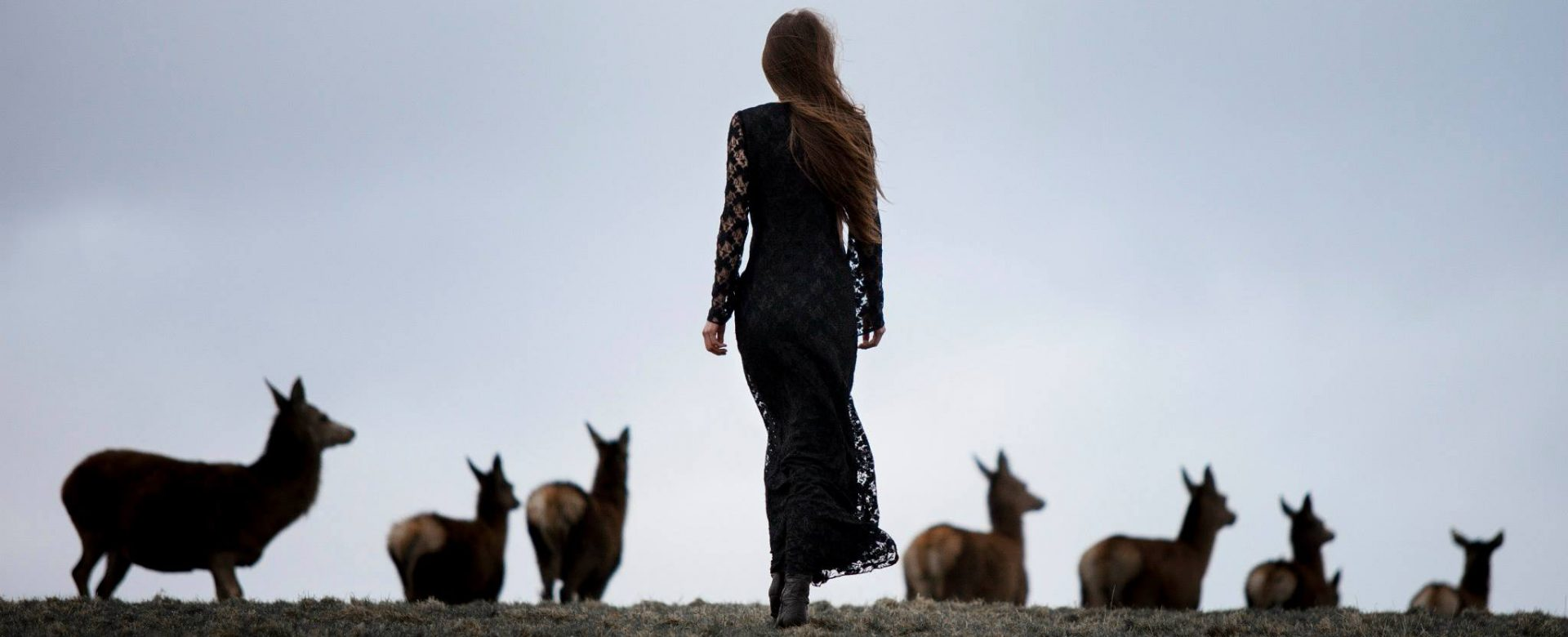 FUNERAL 'Modest' dress on Urszula Prokop, shot by Photobara, Makeup by Yvonne Lynch